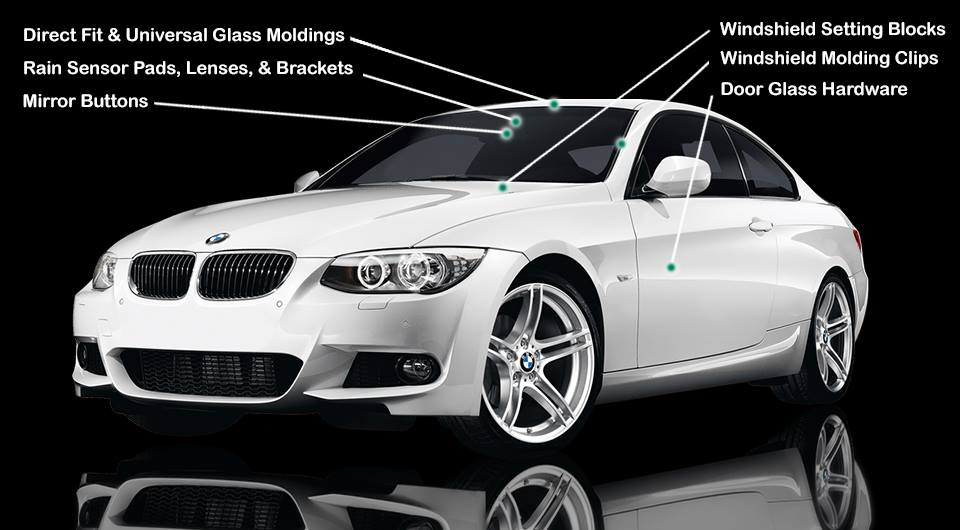 premium quality components for the auto glass replacement industry click here - Automotive Glass